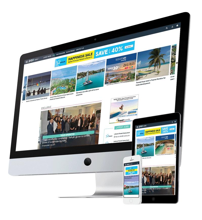 PAXnews.com, Web site with responsive view.