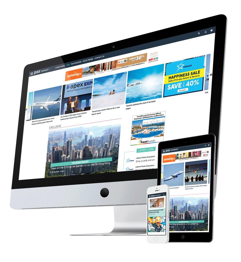 PAXnewsWest.com, Web site with responsive view.